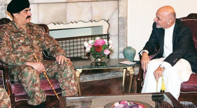 Pakistan's Army Chief Visits Kabul to Meet Afghan President and ISAF Commandar