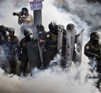 Peruvian youths protest against labor law