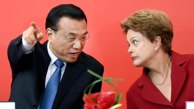 China's Prime Minister Li Keqiang and Brazilian President Dilma Rousseff