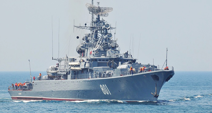 Russia Navy launches missiles against ISIS in Syria from Caspian Sea