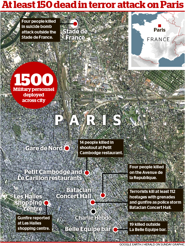At least 158 killed in France's deadliest day since World War II