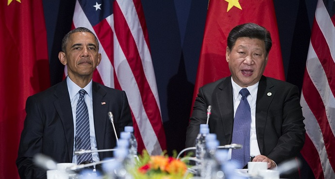 U.S. President Barack Obama and Chinese President Xi Jinping at the opening ceremony of the World Climate Change Conference in Paris, France (Photo: AP)