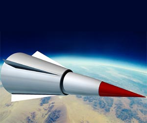 The DF-ZF HGV warhead is carried to the boundary between space and Earth's atmosphere, roughly 100 km above the ground, by a ballistic missile booster.