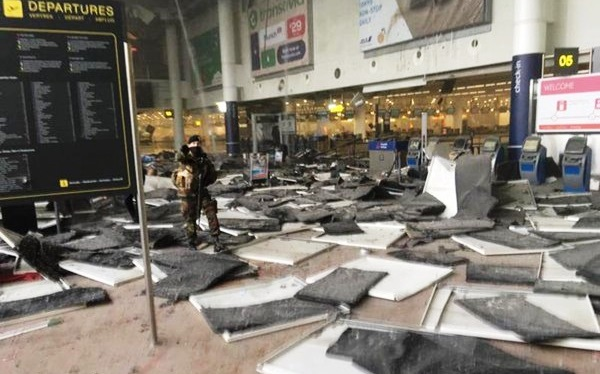 Coordinated attacks that  ripped the Brussels international airport on 22 March 2016