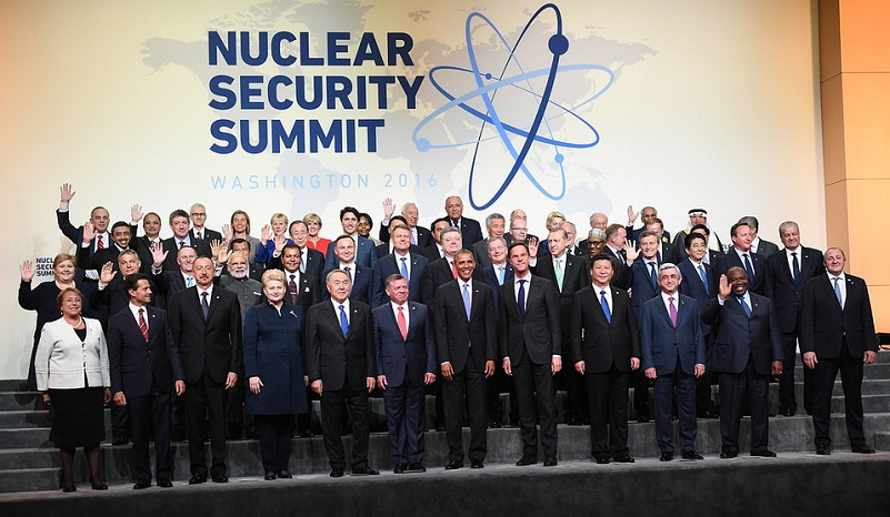 Heads of delegation for 2016 Nuclear Security Summit gather for family photo in Washington, D.C. on April 1, 2016. Photo: Ben Solomon/U.S. Department of State