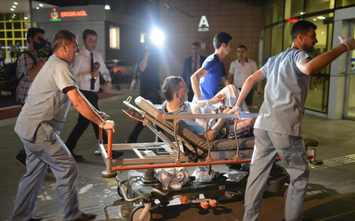 Several ambulances and medics rushed to the Istanbul Ataturk Airport after terror attack.