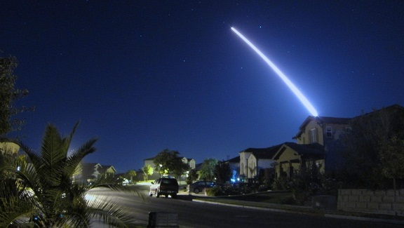 An operational test launch of an unarmed Minuteman III intercontinental ballistic missile from Vandenberg Air Force