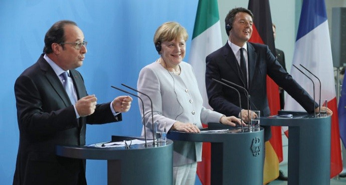 Germany, France and Italy vow to boost EU security in wake of terrorism, migrant crisis