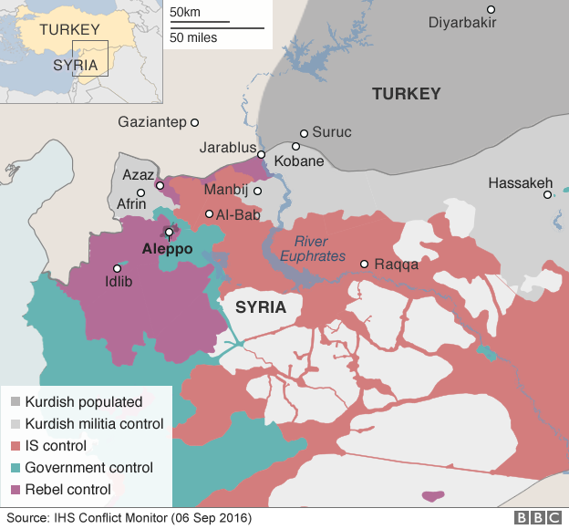Syria conflict map