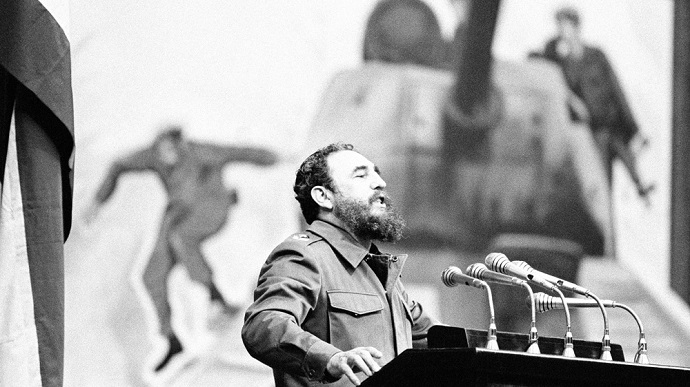 Castro speaks in Havana in 1981 of Cuba's victory in the Bay of Pigs invasion. Photo: AP