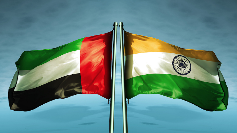 UAE-India Flags