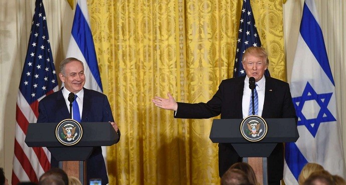 US backs off two-state vision in Middle East in first Trump-Netanyahu meeting