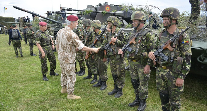 General Petr Pavel, Chairman of the NATO Military Committee meeting with troops of the US Patriot Deployment during exercise Saber Guardian 17