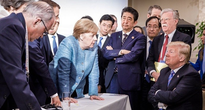 Angela Merkel's photo sums up Donald Trump's G7 summit