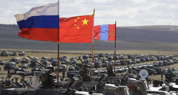 Russia participates in its biggest military exercise together with China and Mongolia in Vostok 2018.