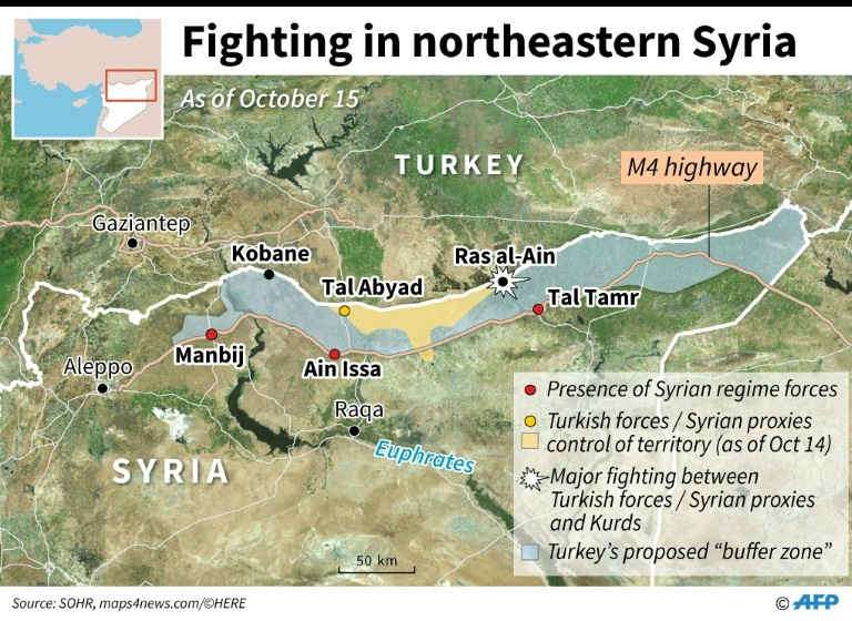 Northeast Syria offensive by Turkey. Courtesy - AFP