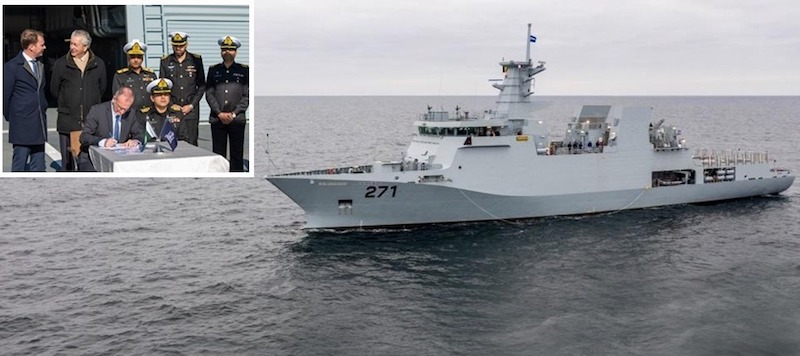 Pakistan Navy has commissioned a 2,300t Corvette PNS YARMOOK (F-271) offshore patrol vessel (OPV) built by Damen in a ceremony held at Constanta Port in Romania.
