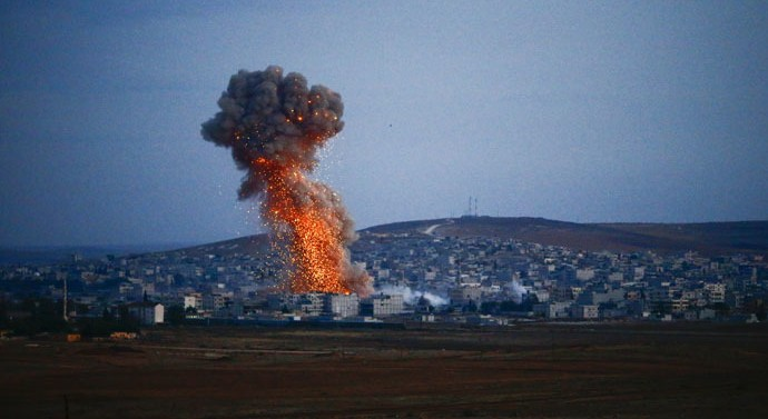 U.S. led alliance launched air strikes against ISIS