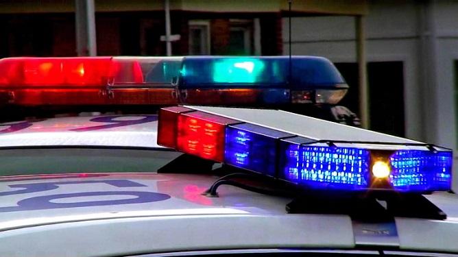 Armed man enters US police station