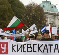 Bulgarians protest against NATO base installation in the country