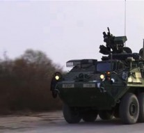 US military convoy passes through Eastern Europe
