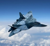Russia's new robotic  T-50 fighter jet undergoing tests