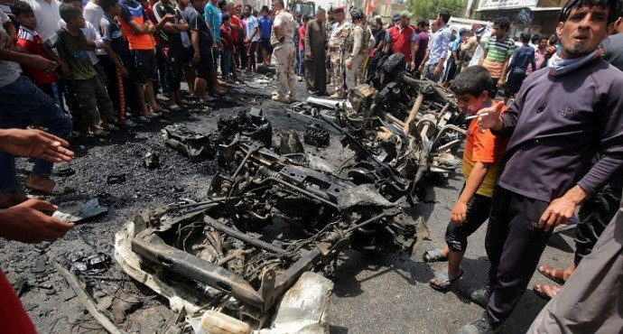 Three bombings in one day kill more than 90 in Baghdad