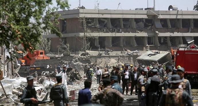 Massive blast in Kabul's diplomatic district kills at least 80
