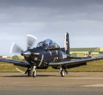 UK conducts test flight of Texan T1 training aircraft