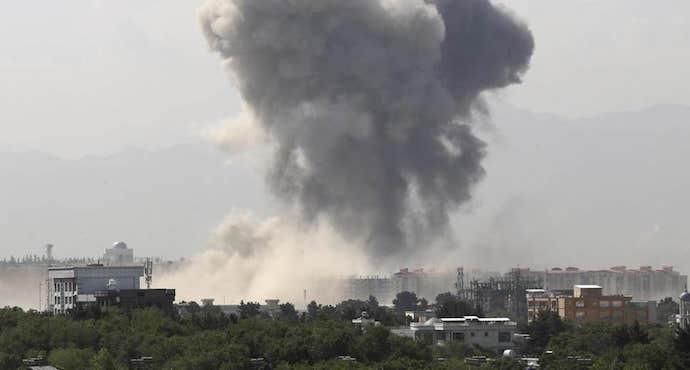 Heavy blast rocks Kabul as peace talks continue in Doha
