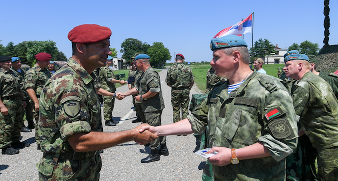 Russia, Serbia hold second joint military exercise