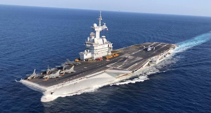 More than 1000 sailors infected on French aircraft carrier