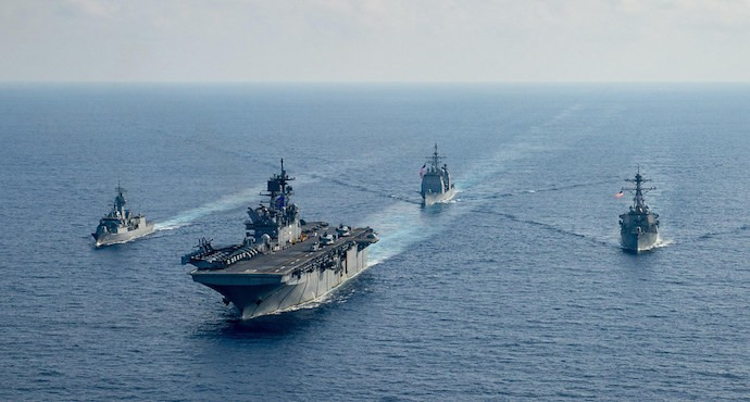 Australia joins US Navy for South China Sea patrol as tensions rise