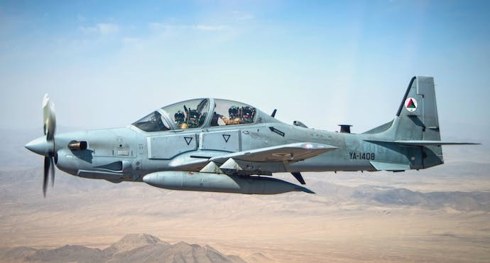 USAF Pilot safe after A-29 crashes in Afghanistan
