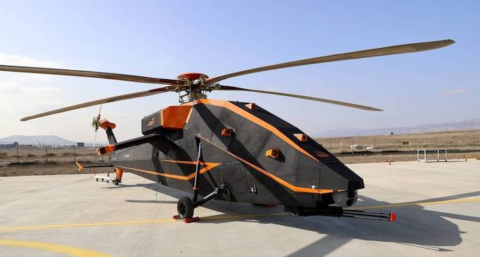 Turkey unveils unmanned attack helicopter